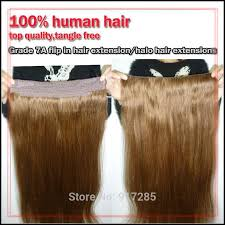 natural wave blonde color halo hair extension fish hair