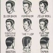 drawings of 1950 boy s hairstyles 21 grooming charts every guy needs to see 1950s krystal and