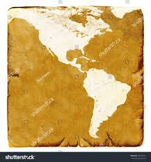 Blank Latin America Map by Map Usa Latin America Blank Old Stock Illustration 499736476