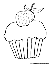 strawberry cup cake coloring page create a printout or activity