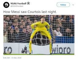 English Premier League Memes - chelsea star thibaut courtois slammed on social media after horror