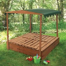 Backyard Sandbox Ideas Covered Sandbox Covered Convertible Cedar Sandbox W Canopy And