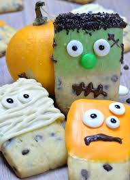 halloween monsters shortbread cookies omg chocolate desserts