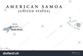 American Samoa Map American Samoa Political Map Capital Pago Stock Vector 694266232