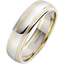 mens wedding rings uk mixed metal mens wedding ring in 18ct white yellow gold
