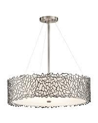 kichler tiffany lighting elstead lighting kichler silver coral 4 light pendant in classic