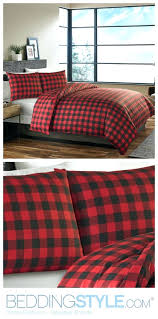 Flannel Duvet Sets Red And Black Plaid Flannel Duvet Cover Plaid Flannel Duvet Covers