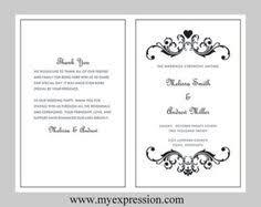 bi fold wedding program template wedding program template gold damask instant by myexpressionshop