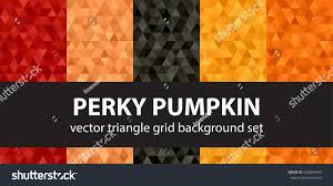 pumpkin pattern wallpaper triangle pattern set perky pumpkin vector stock vector 500809963