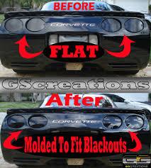c5 corvette custom molded blackout light lens kit smoked