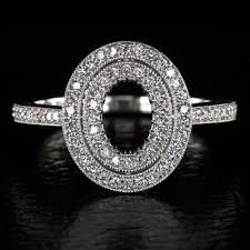 vintage oval engagement rings oval diamond halo engagement ring setting vintage semi