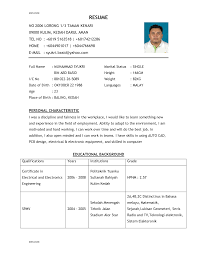 examples of a good resume resume templates