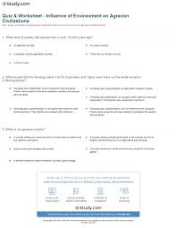 quiz u0026 worksheet influence of environment on agrarian