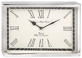 Decorative Wall Clocks Australia Wadsworth Small Rectangle Wall Clock Silver Chrome Decor