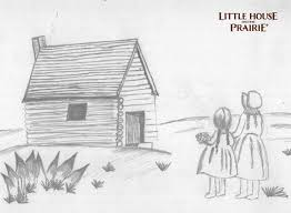 little house on the prairie pencil sketch by fan