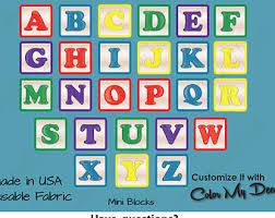 Alphabet Wall Decals For Nursery Decal Abc Block Etsy