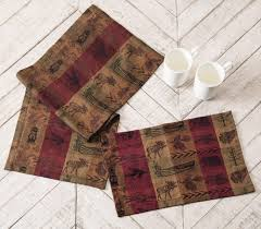 rustic table linens and table top decor at black forest decor