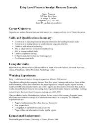 Business Analyst Resume Objective Resume Examples Business Analyst And On Pinterest In Entry Level