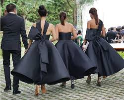 black bridesmaid dresses 20 aisle bridesmaids we re crushing on wedding black
