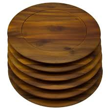 6 pack 13 inch wooden charger plates b smith