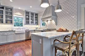 Horizon Cabinet Doors Beveled Arabesque Tiles Contemporary Kitchen Benjamin