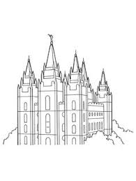 temple coloring page coloring page for primary class family at the temple lds mormon