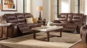 Almafi Leather Sofa Veneto Brown Leather Pc Reclining Living Room On Almafi Leather