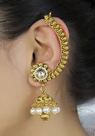 ear cuffs india buy indian style bridal partywear ear cuff polki earring