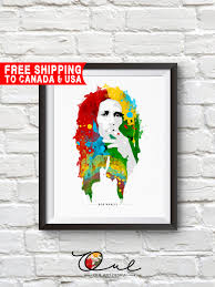 bob marley print bob marley poster bob marley art home