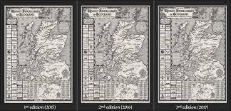 Scotch Whisky Map Three Editions Of My Manuscriptmaps Com Hand Drawn Scotch Whisky
