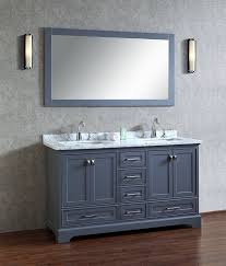 Bathroom Vanities 60 by Stufurhome Chanel Grey 60 Inch Double Sink Bathroom Vanity With