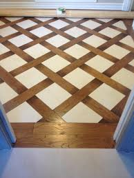 wood and tile basket weave pattern tile floors pinterest