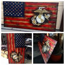 Vintage Flag Art Designs Vintage American Flag Wall Art As Well As Rustic