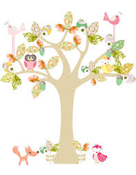 enchanted tree wall sticker small cocoon couture