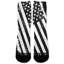 Black And White Us Flag Patriotic Black White Usa Flag Custom Athletic Fresh Socks U2013 Fresh
