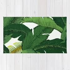 Palm Tree Area Rugs Palm Leaf Area Rug 2x3 Rug Banana Leaves Rug 3x5 Rug 4x6 Area