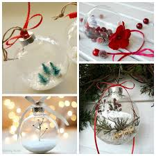 elegantly adorable ideas for ways to fill glass ornaments at