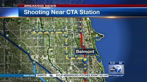 Chicago Shootings Map by Man Reportedly Shot Near Cta Belmont Stop In Lakeview In Custody