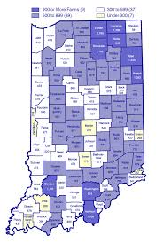 Indiana Zip Code Map Farmland In Indiana