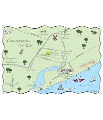 Map Of The Hamptons Maps And Totes U2013 Laura Hooper Calligraphy
