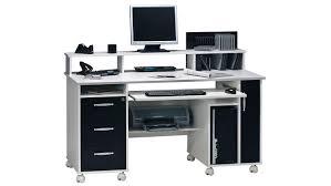 Schreibtisch Hochglanz Schwarz Maja 9475 Computertisch In Weiß Schwarz