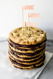 salted chocolate chunk cookie layer cake fun idea for a
