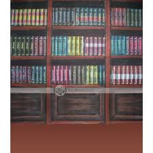 Background Bookshelf Yunshi Sophisticated Bookcase Pattern Studio Photograph Muslin