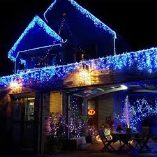 Outdoor Colored Christmas Lights by Aliexpress Com Buy 220v 144 Led Pisca Curtain Fairy Light String
