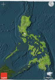 3d Maps Satellite 3d Map Of Philippines Darken