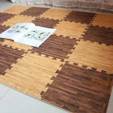 Area Rug Mat Customized Size Cork Wood Floor Mats Non Toxic Puzzle Foam Area