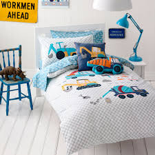 adairs kids boys danny u0027s digger bedroom quilt covers u0026 coverlets