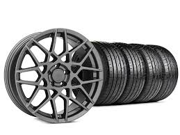 2013 mustang wheels and tires mustang 2013 gt500 style charcoal wheel sumitomo tire kit 20x8