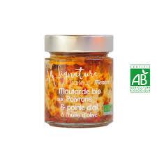 huile de moutarde cuisine moutarde bio aux poivrons et pointe d ail à l huile d olive