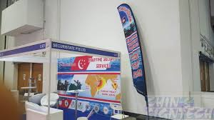 Standing Flag Banners We Specialize Flag And Banner Stage Backdrop Printing